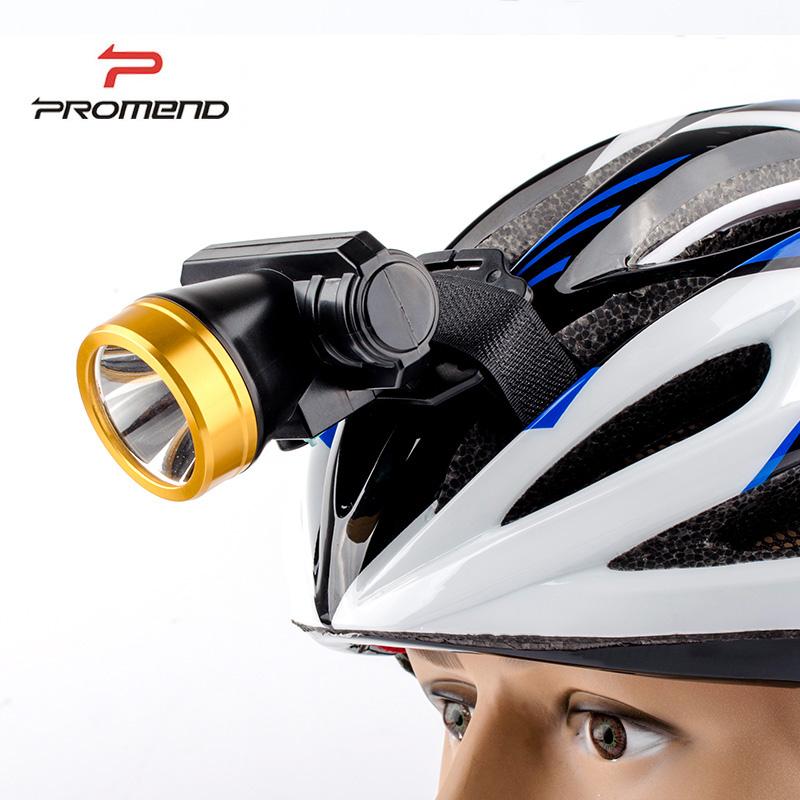 promend 山地自行車頭盔燈戶外騎行可拆卸夜騎頭燈強光可USB充電