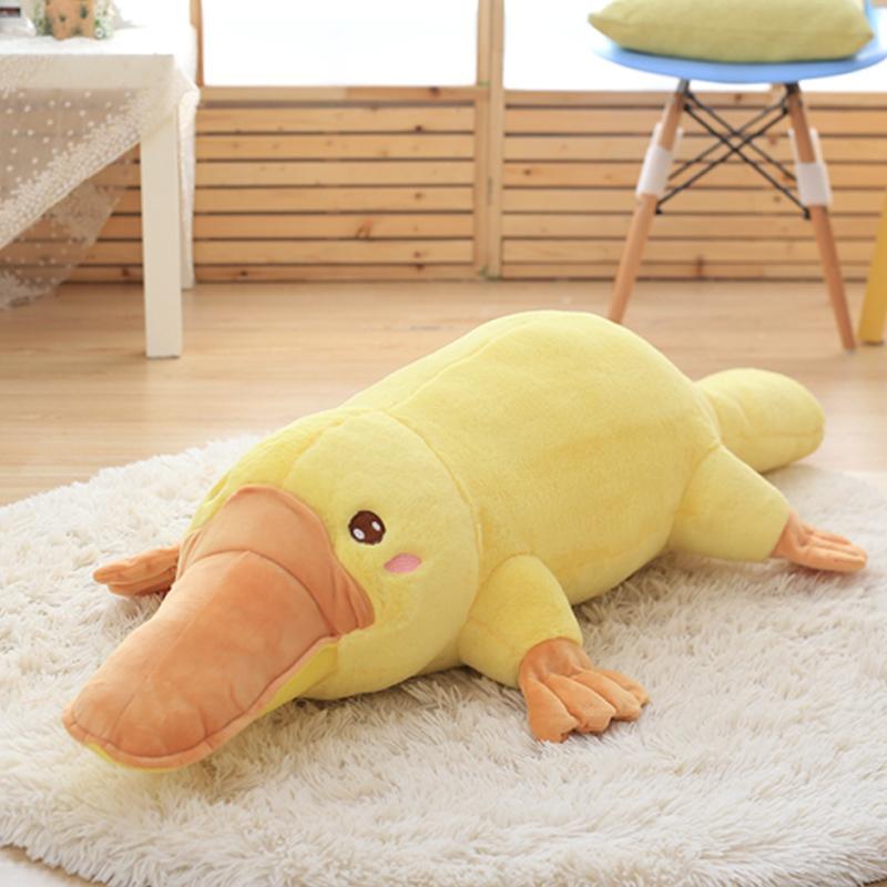 毛绒玩具鸭嘴兽公仔布娃娃可爱睡觉抱枕女孩床上超软大号女生玩偶