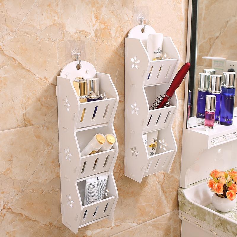 墙上置物架浴室卫生间卧室挂墙上墙面手机收纳盒墙壁粘贴免打孔