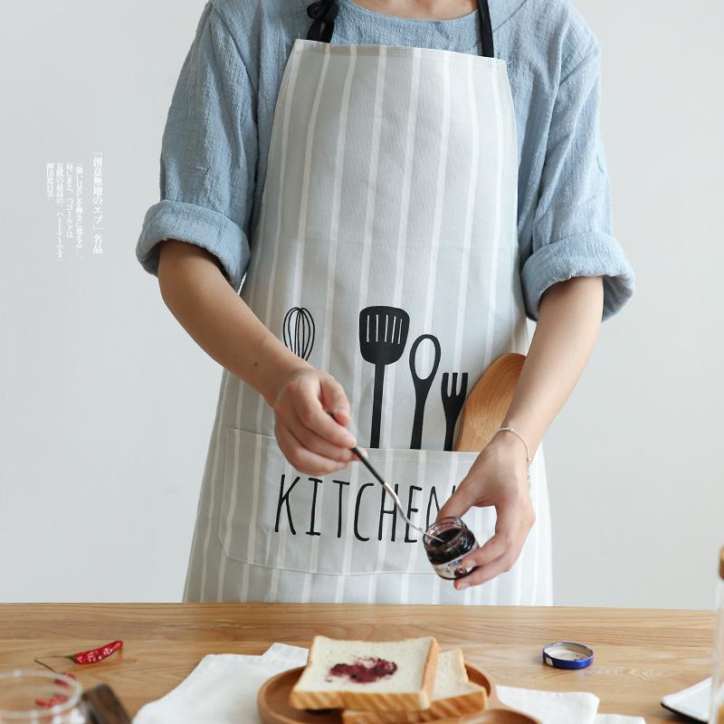 围裙 家用 厨房防水防油女时尚男士做饭工作北欧情侣可爱日系韩版