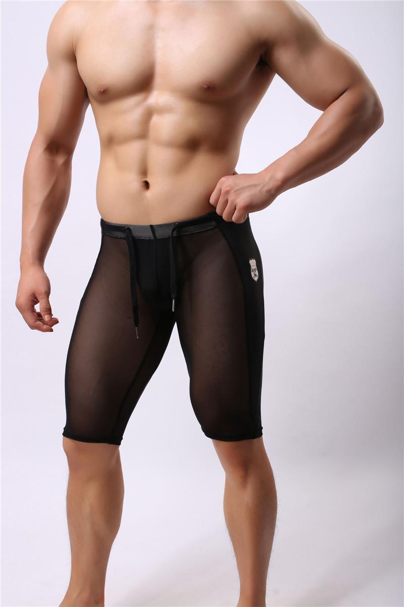 一件包郵BRAVE PERSON男士健身運動透明中褲五分褲瑜珈褲兩色
