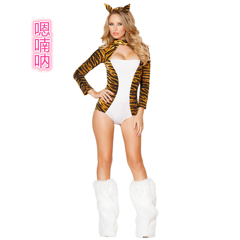 Ah nan na siamese cat ladies sexy leopard cat girl costumes halloween costumes night ds costumes  sc 1 st  Alibaba & Buy Leopard cat girl dress costumes halloween costume cosplay devil ...