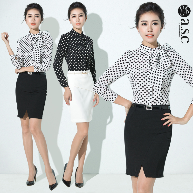 cb6ac3fb7cb4 Buy Ai shangchen 2016 spring and autumn long sleeve ladies wear skirt suits  korean version of the repair body shirts plaid shirt polka dot in Cheap  Price on ...