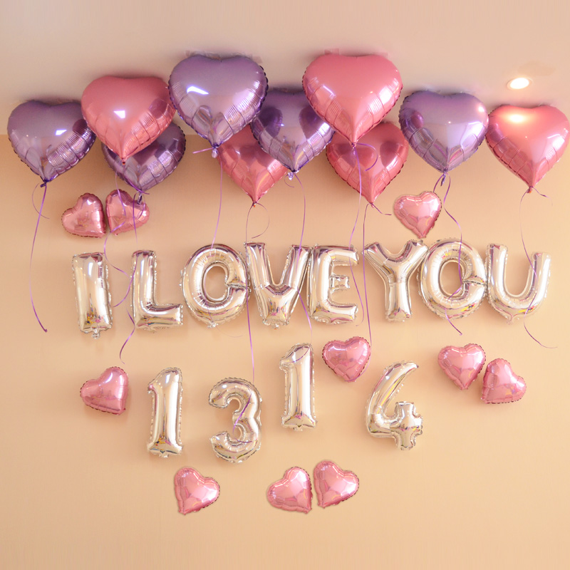 Buy Aluminum Balloons Letters Backdrop Decoration Wedding Room