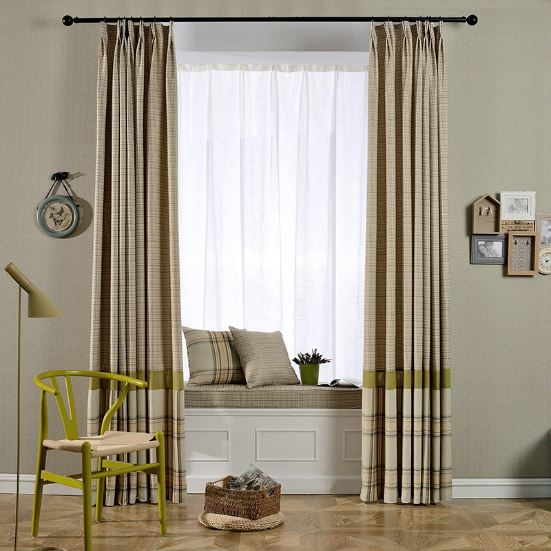 Buy American Country Curtains Finished Living Room Bedroom Modern