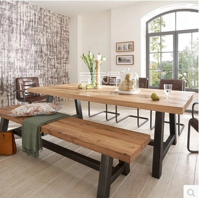 American Country Wood Dining Table