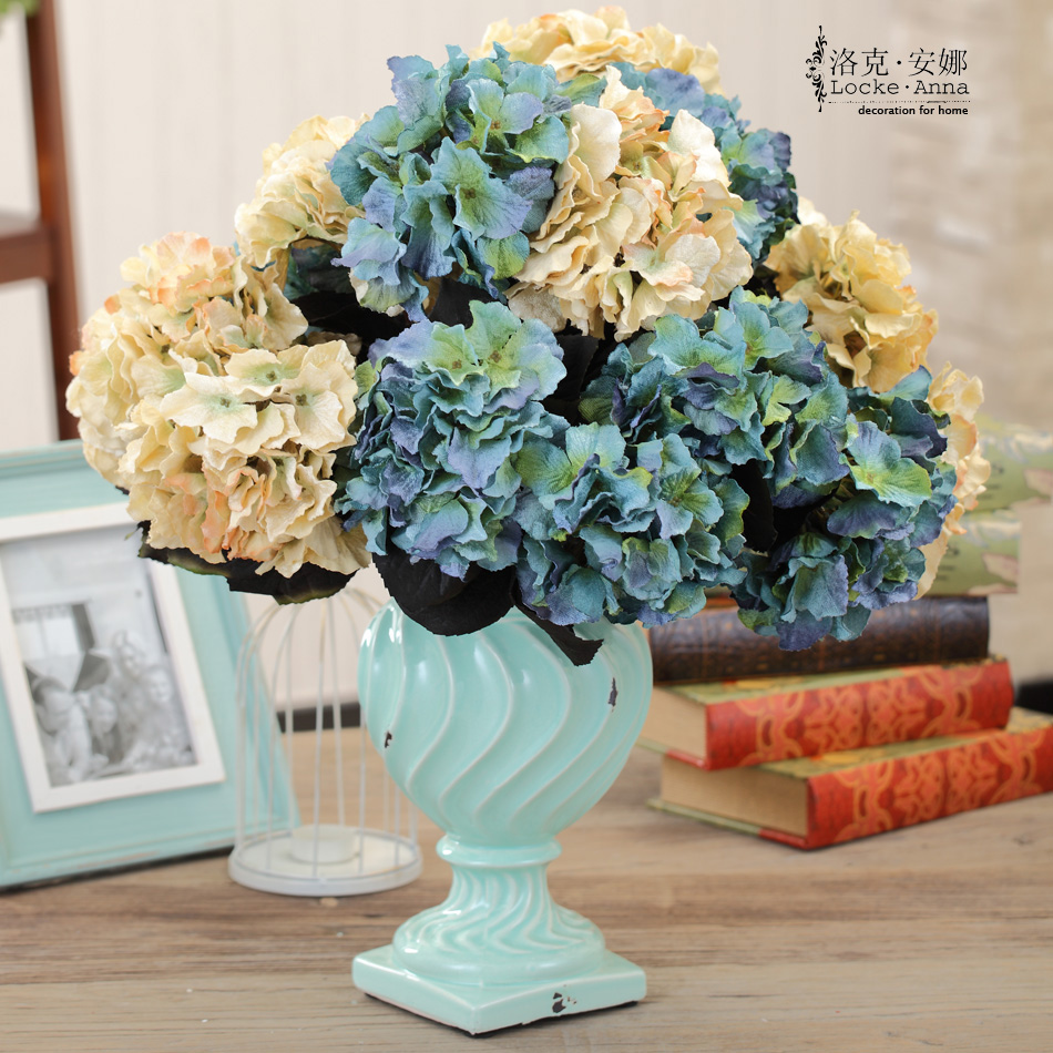 Buy European Retro Pastoral Big Hydrangea Flowers Artificial Flowers