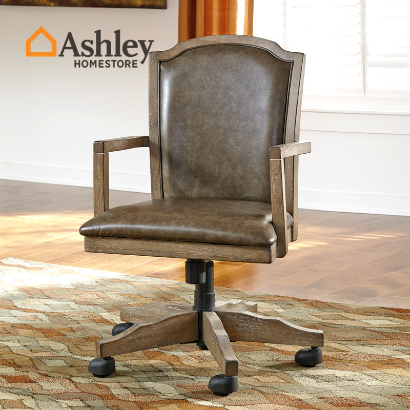 Buy Ashley Love Room Liesl Home American Retro Home Office Swivel Chair High Chair Wood Chair H688 In Cheap Price On M Alibaba Com