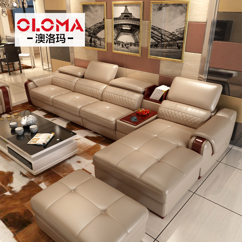 Buy Australia loma large apartment cowhide leather sofa leather sofa ...