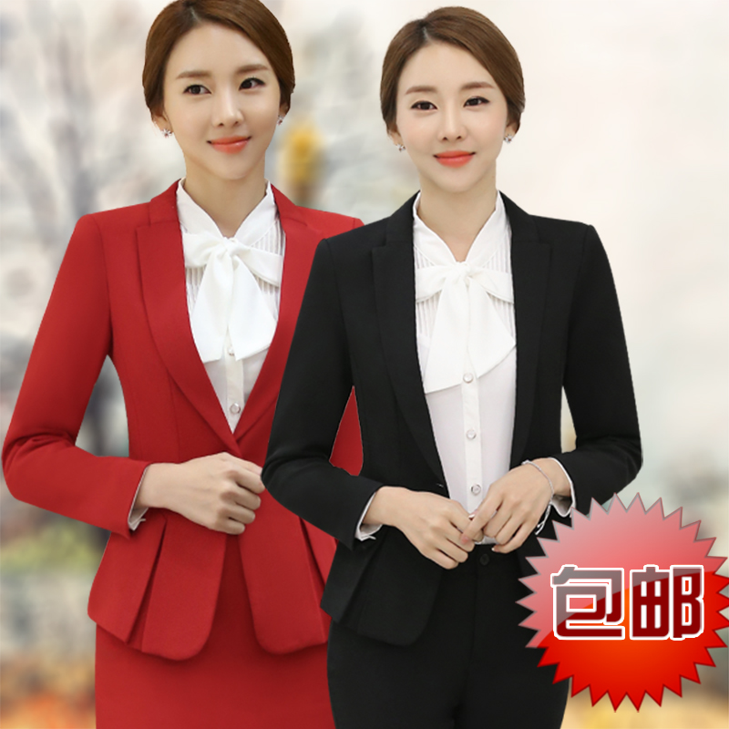 edf3ed6fe34a Buy Autumn and winter wear women  39 s suits ladies long sleeve dress suit  skirt suit hotel uniforms black trousers in Cheap Price on m.alibaba.com