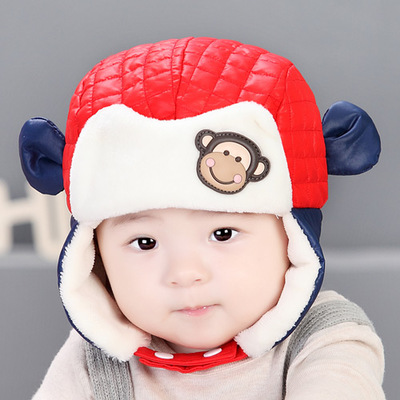 6179b7014 Buy Baby winter hat baby hat plush hat cartoon baby hat baby hat ...