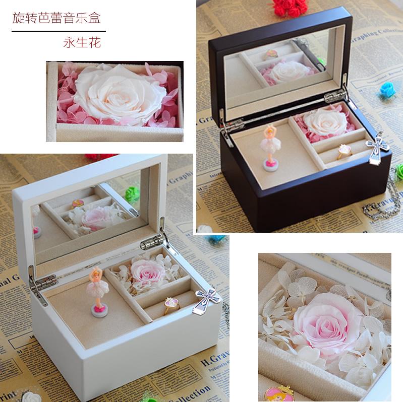 Ballet Rotating Wooden Music Box Gift Ideas Girls Birthday For Children Diy Custom Lettering