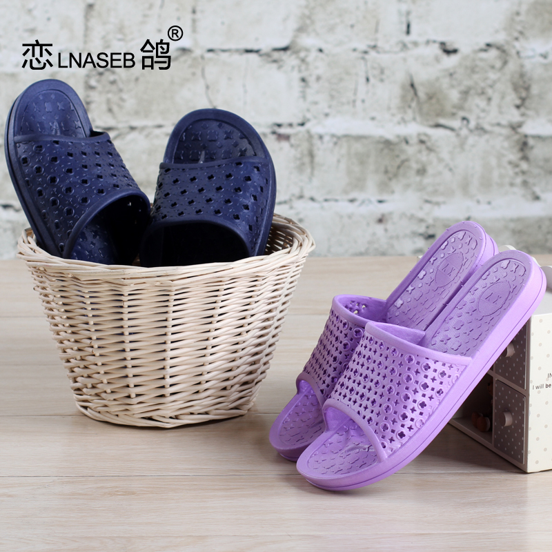 34773cc9a85bc0 Buy Bathroom slippers summer home for men and women couple home interior  slip home leaking plastic bath sandals and slippers summer in Cheap Price  on ...