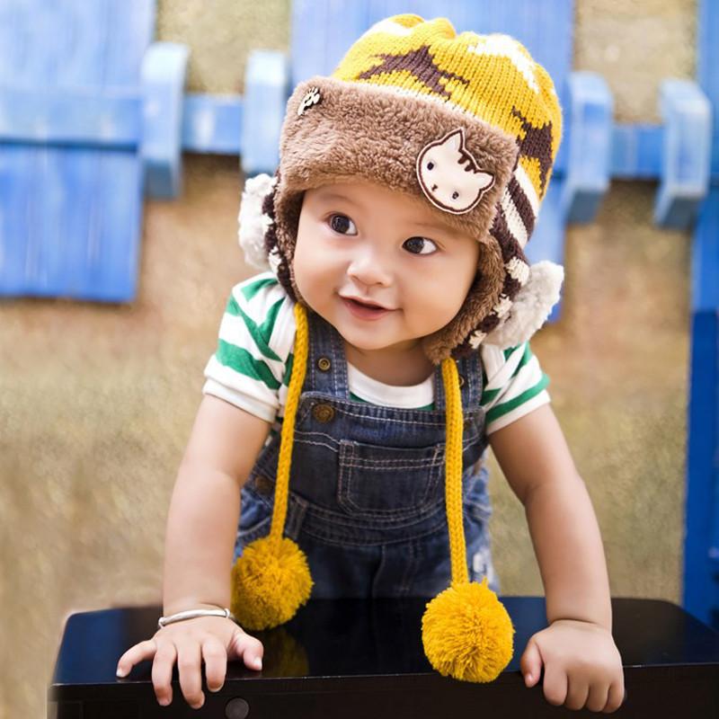 efc15f9214f Buy Bear duo 0-1-year-old dongkuan baby hat baby hat korean children baby  boys and girls plus velvet ear cap wool cap tide in Cheap Price on  Alibaba.com