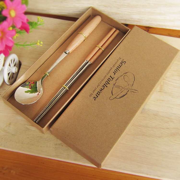 Buy Beech 304 Stainless Steel Chopsticks Spoon Fork Cutlery Knife