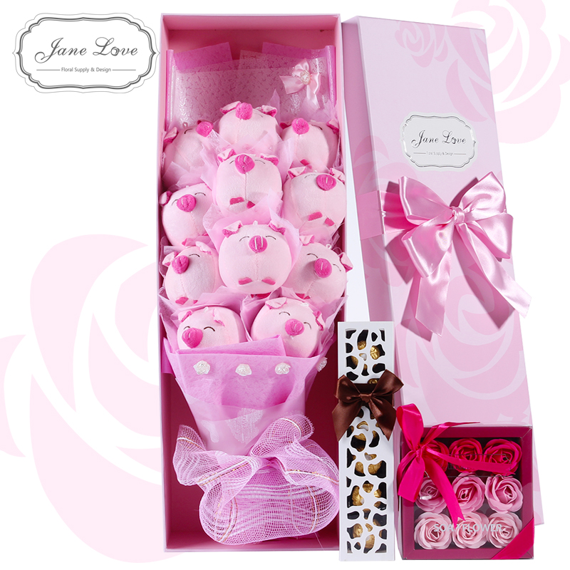 Buy Birthday Gift Ideas Girls Practical Special Romantic To Send His Girlfriend Graduation In The Autumn Festival Pig Nosegay Cheap