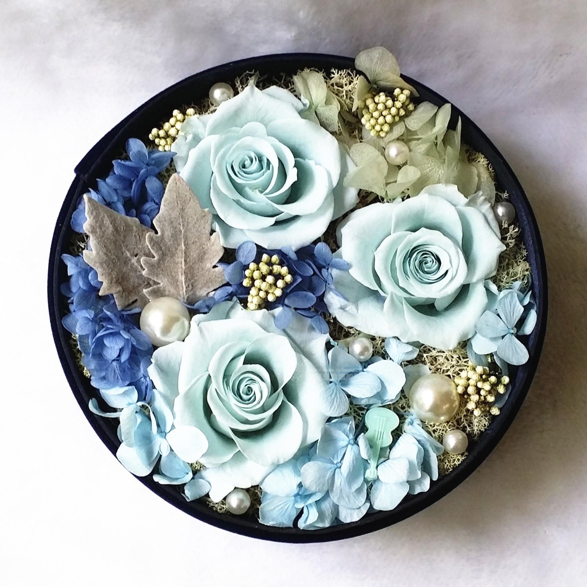 Buy Blue Danube Blue Rose Preserved Flower Flower Preservation