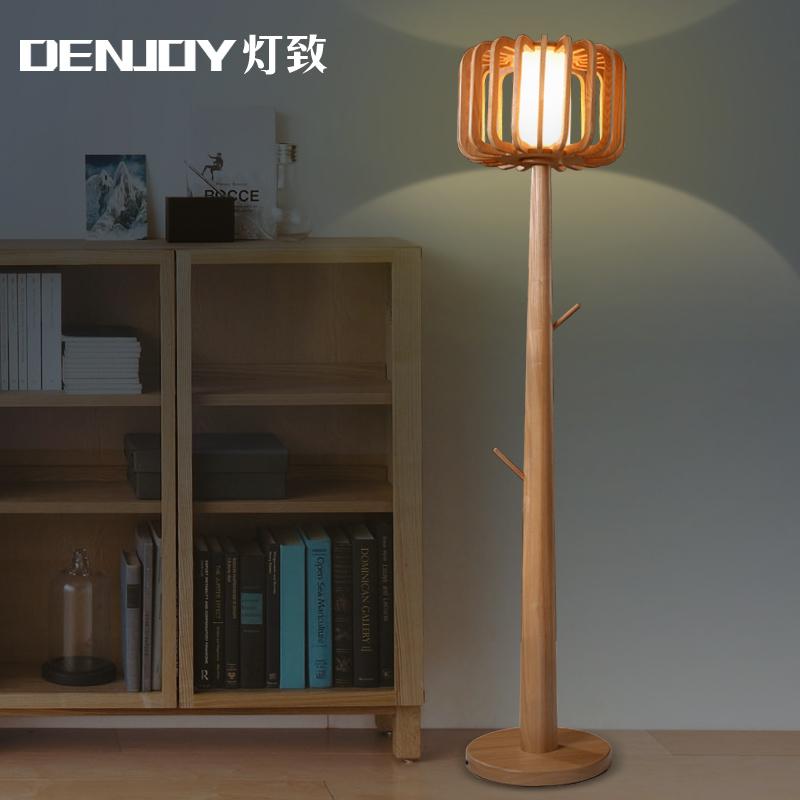 European Solid Wood Floor Lamp