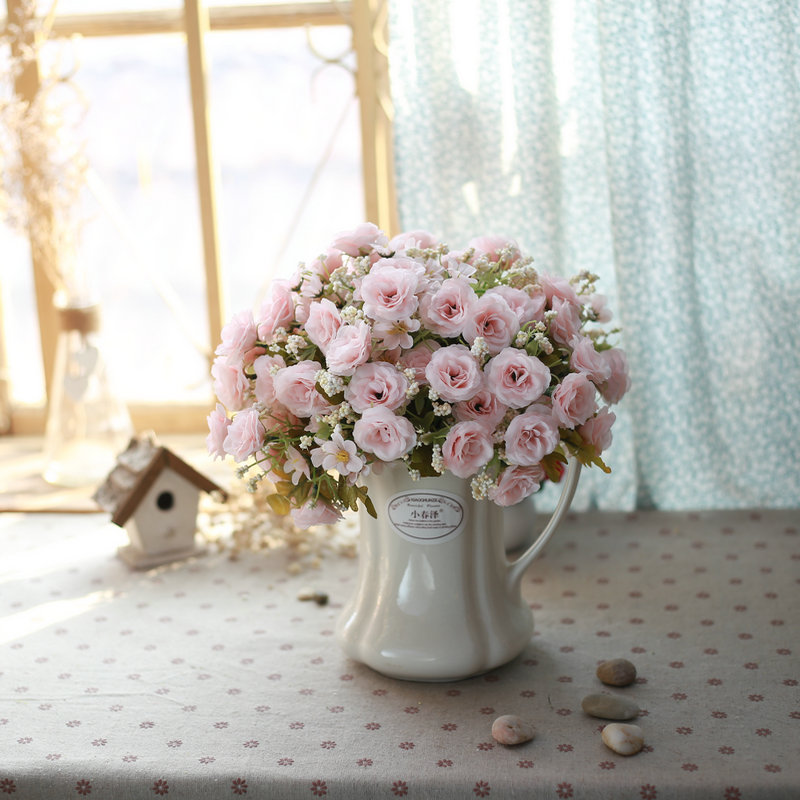 Buy Ceramic jug vase garden home decoration artificial flowers floral suit table flowers artificial flowers decorate the living room in Cheap Price on ... & Buy Ceramic jug vase garden home decoration artificial flowers ...
