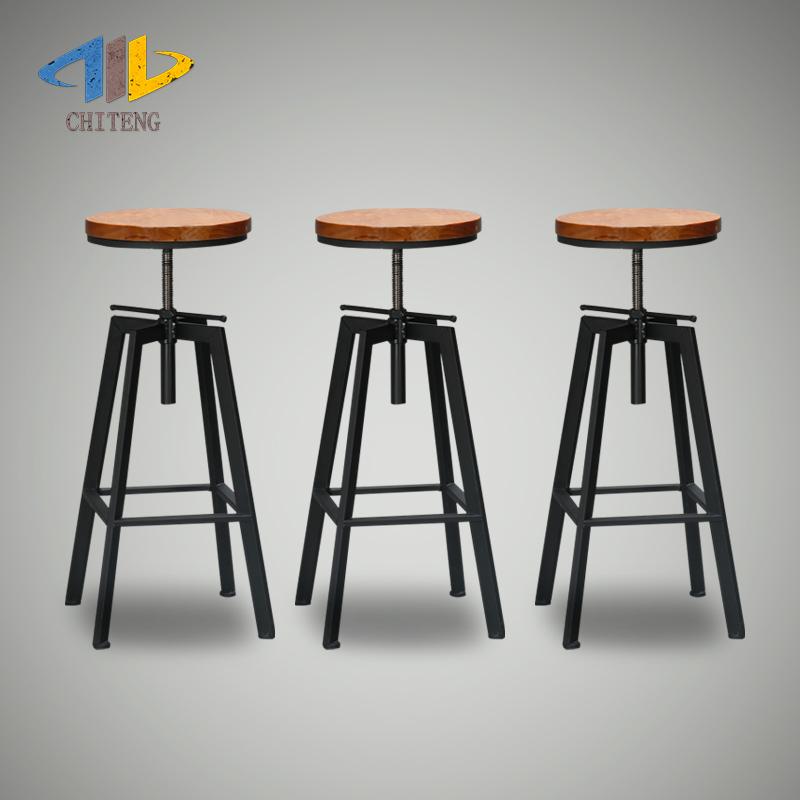 Chek Teng Minimalist Loft Iron Bar Stool