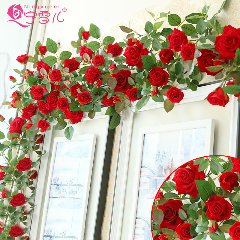 Delicieux Buy Cher Rather Artificial Flowers Roses Simulation Rattan ...