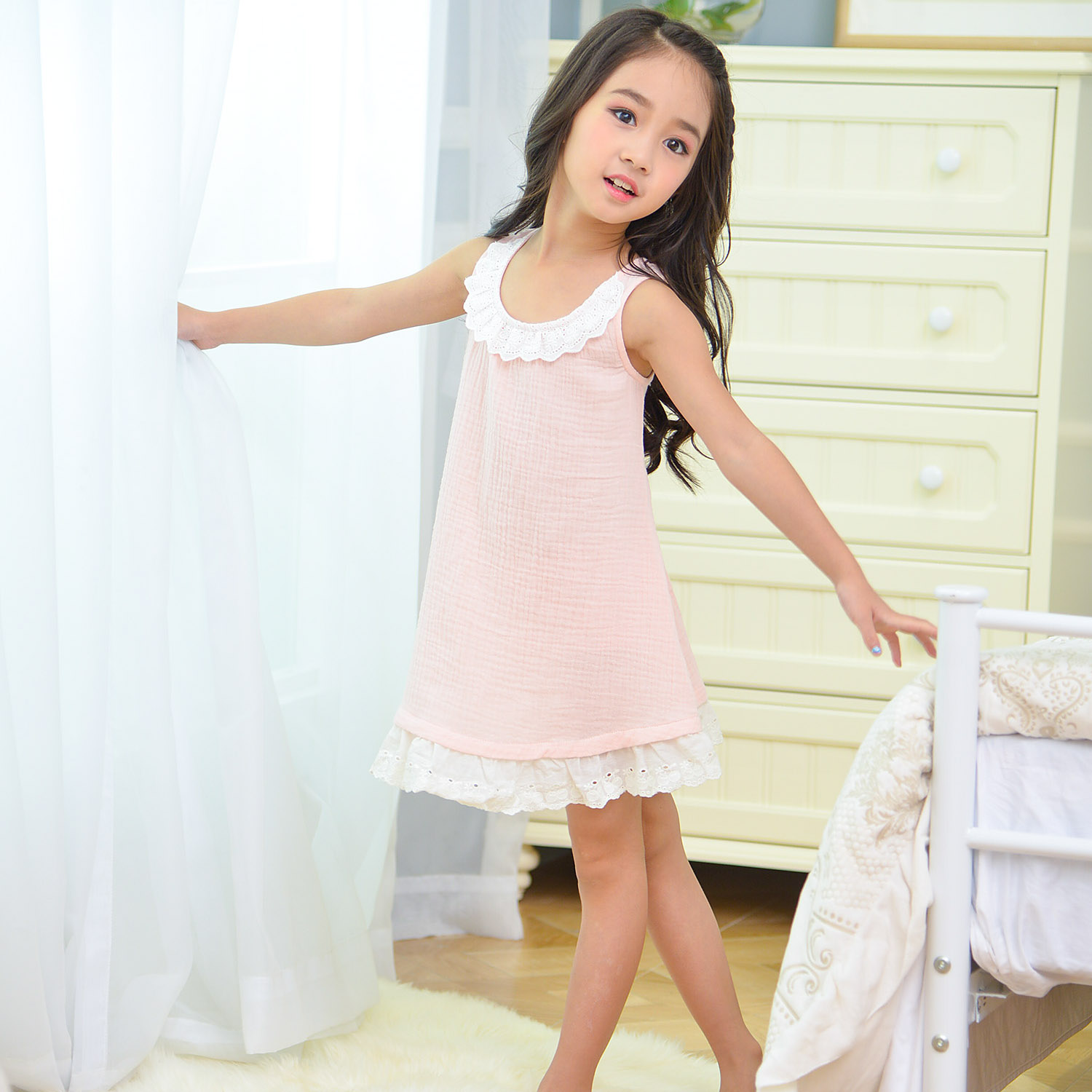 Buy Children baby cotton nightgown princess nightgown girls tracksuit  children  39 s sleepwear summer and autumn girls dress 1620 in Cheap Price  on ... 13a2da366