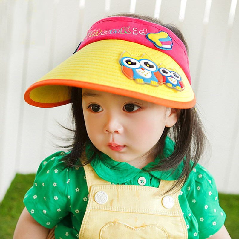 f1078ab5820 Children hat korean cotton sun hat empty top hat baby boys and girls spring  and summer travel sun hat tide shipping