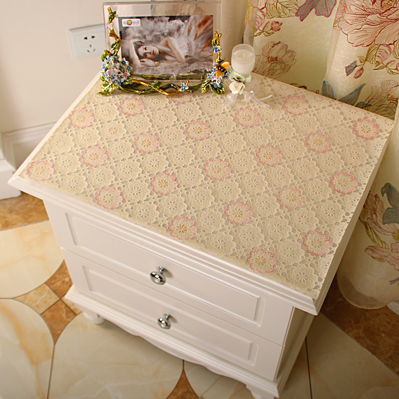 Coated Multifunctional Bedside Cabinet Cover Fabric Tv Dresser Dressing Table Cloth Tablecloth Dining Coffee Mat Waterproof