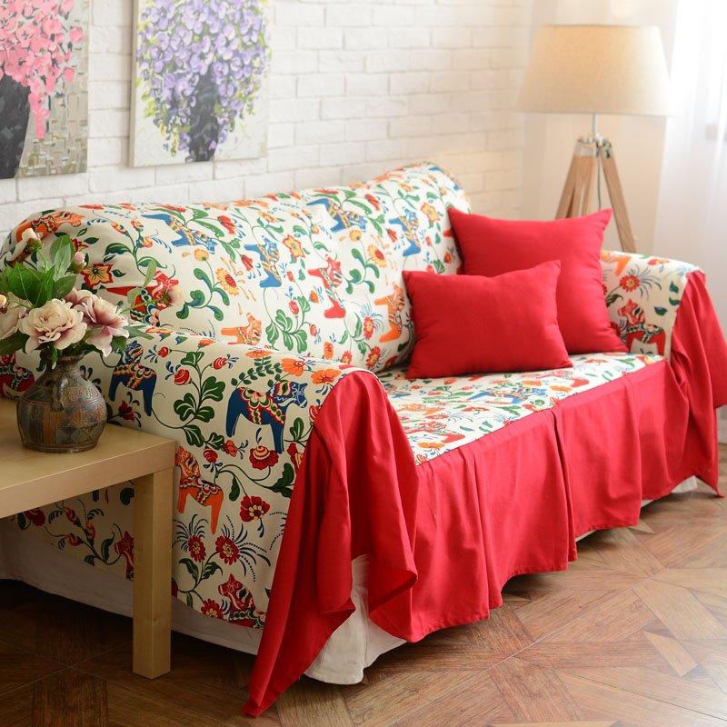 Colored Pony Red Cotton Pillow Cover Cushion Sofa Towel Dust Cloth Can Be Customized In Price On M Alibaba
