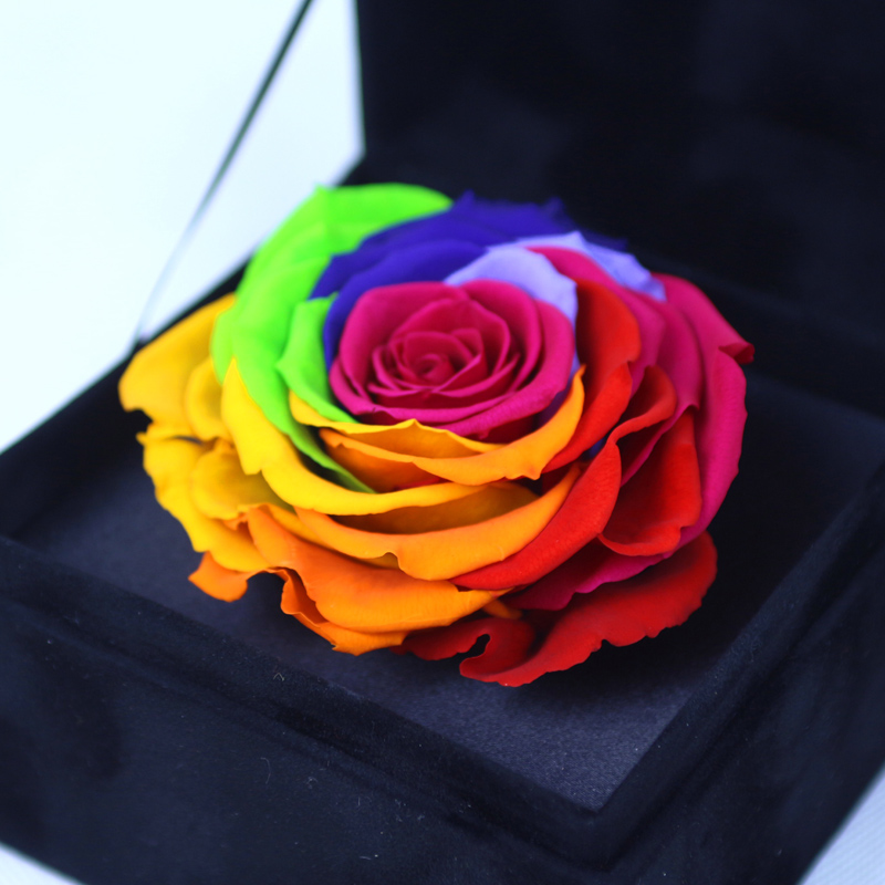 Buy Colorful Roses Imported Valentines Day Flowers Birthday Gift Flower Preservation Delivery Nationwide Sf In Cheap Price On Malibaba