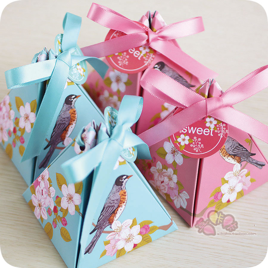 Buy Creative candy box candy box continental send cards ribbon thick ...