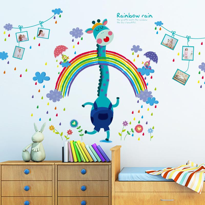 Creative Photo Frame Wall Stickers Cartoon Giraffe