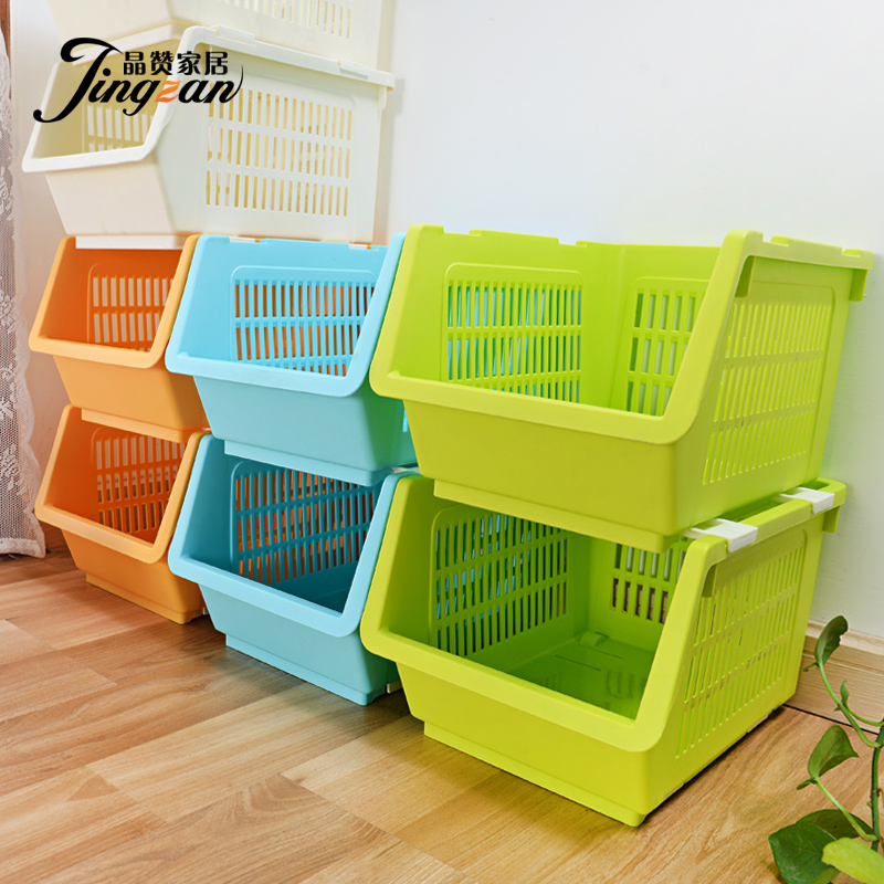 Crystal Chan Fruit And Vegetable Basket Storage Baskets Can Be Superimposed Plastic Drain Kitchen