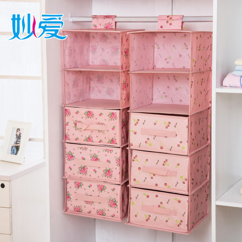 Cupboard Drawer Wardrobe Storage Bag Hanging Clothes Pouch Bags Of Clothing  Storage Box Dormitory Multilayer Storage Bag