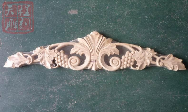 Sodial r wood carved decal corner onlay applique door wall decor