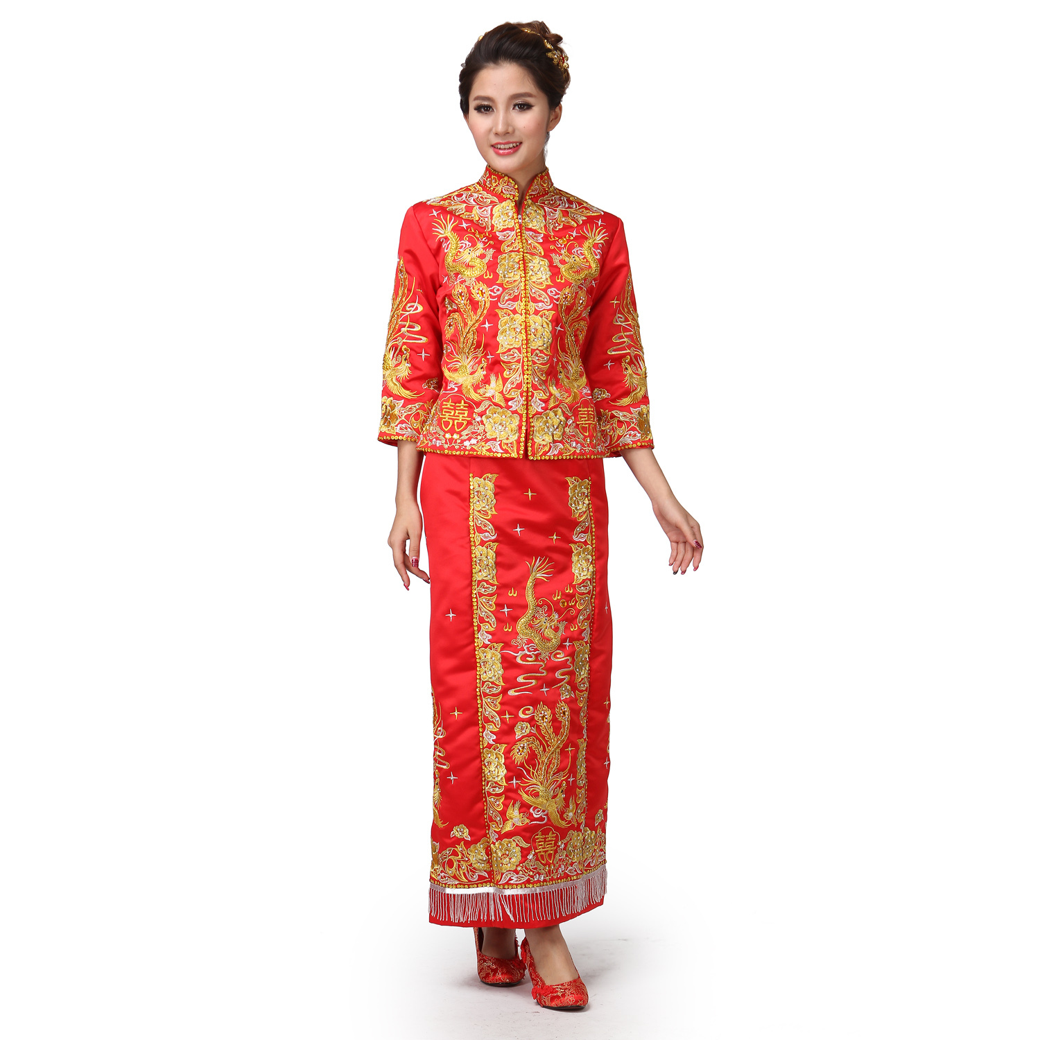 Gold Chinese Dresses