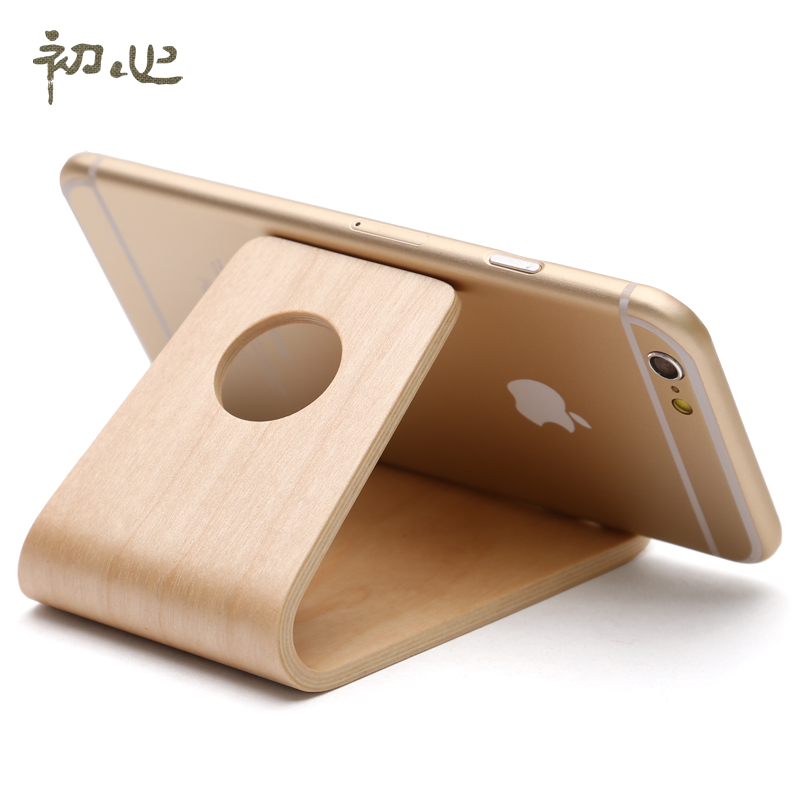 Buy Early Heart Wood Office Phone Holder Creative Gifts To Send Her  Boyfriend Girls Practical Small Gifts Household Items Lazy In Cheap Price  On M.alibaba. ...