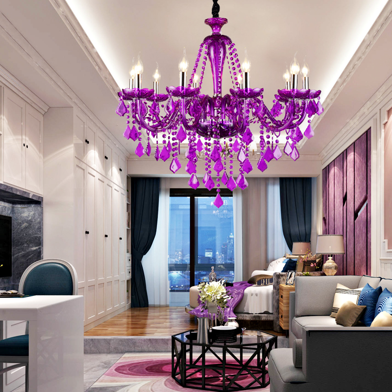 Buy Otis Contadino Prang Purple Crystal Chandelier Cozy Bedroom Lamp Led Lamps Lighting Romantic Princess House In Cheap Price On M Alibaba Com
