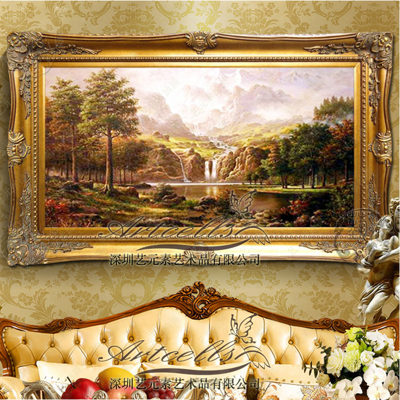 Buy European Painting The Living Room Painted Landscapes ...