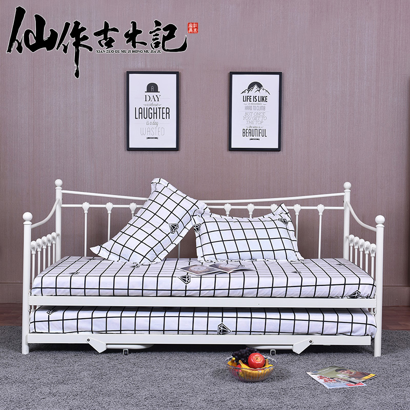 Buy European Sofa Bed Iron Wrought Double Twin Steel Wooden Drawer Metal Frame Multifunctional In Cheap Price On Malibaba