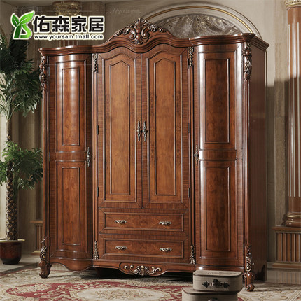 Buy European Wood Wardrobe Closet American Family Of Four American