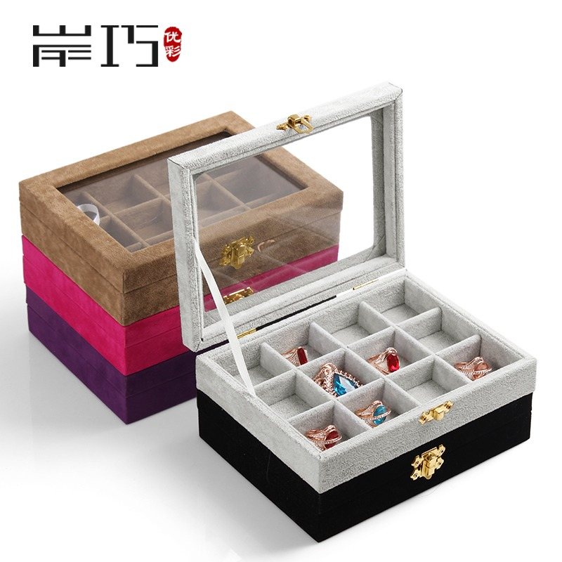 Buy Excellent color trumpet covered jewelry box jewelry storage box