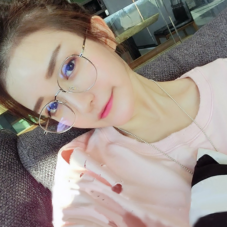 2d80bfb4c2 Buy Eye box frames female retro round metal frame glasses frame female  models with myopia glasses frames for men and women round plain mirror in  Cheap Price ...