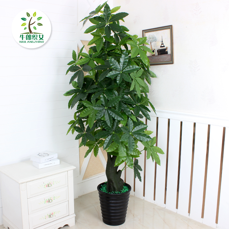 Superb Fake Tree Pachira Living Room Floor Potted Large Type Indoor Artificial  Plants Artificial Flowers Bonsai Tree Simulation Of Plastic Plants