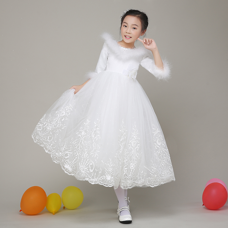 1e0ce1b71 Buy Flower girl dresses flower girl long sleeve girls princess dress ...