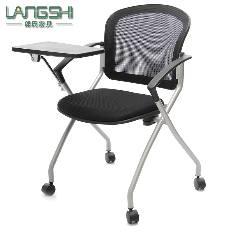 Buy Folding Chairs Office Chair Training Chair With Tablet With A Round Mesh  Chair News Chair Meeting Chair Student Chair Reporter In Cheap Price On ...