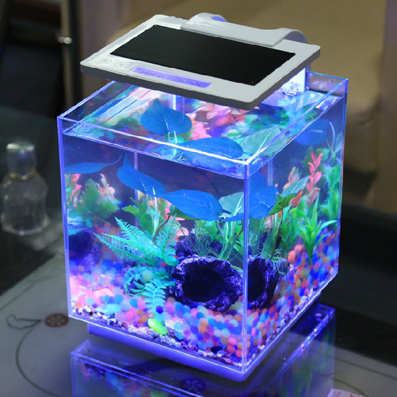 Buy Free Shipping Dense Ultrawhite Mini Desktop Aquarium Fish Tank
