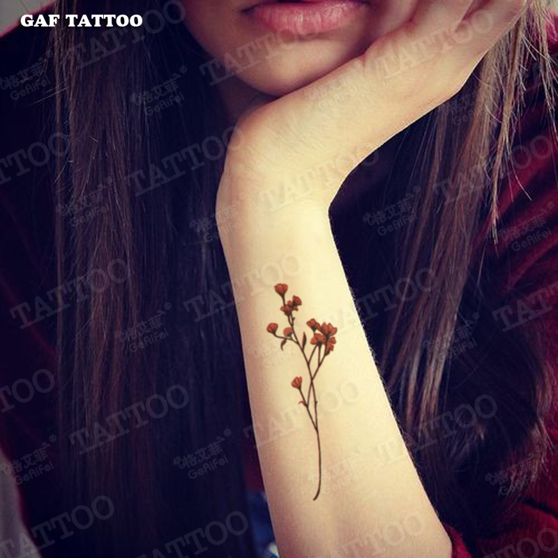 Buy Ge Yifei Tattoo Stickers Waterproof Female Flower Lasting Lifelike Arm Tattoo Sexy Tattoo Stickers Small Fresh Theatrical In Cheap Price On Alibaba Com