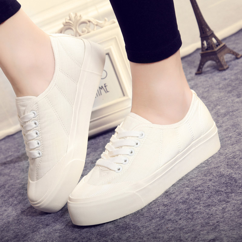 5c38cdf3cf2 Buy Global new women  39 s college wind white girls shoes girls casual shoes  to help low shoes lace platform shoes women shoes in Cheap Price on  m.alibaba. ...