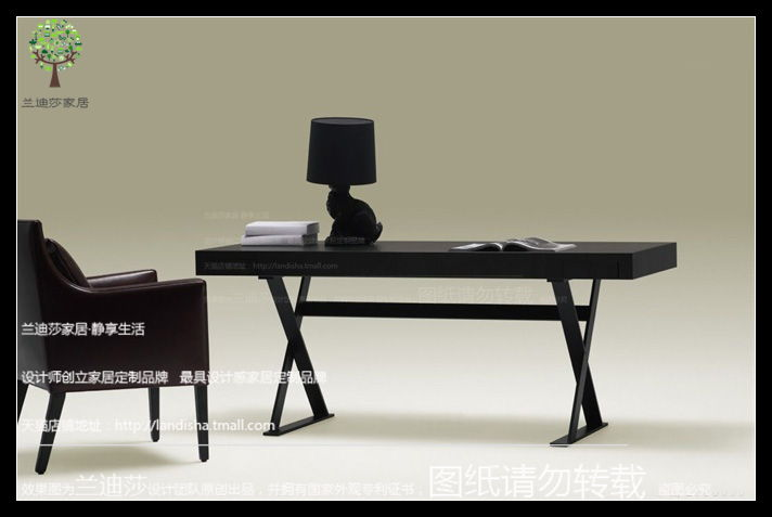 Golan Nordic Modern Minimalist Desk Computer Black Oak Color Book Custom Furniture In Price On M Alibaba